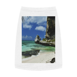 Pet Tank Top - ON THE BEACH! - US MADE - Square Framed Premium Galery Wrap Canvas -- Remote & Pristine Mona Island near Puerto Rico - Yunque Store