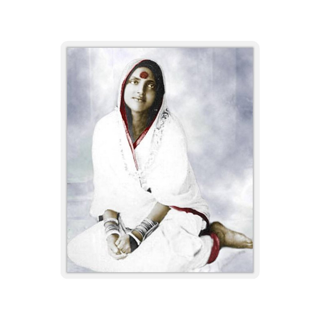 Portable Blessings - Kiss-Cut Stickers - The great Hindu Saint Ananda Mayi Ma: 'One of God's Name is LOVE. He Himself resides within all, at every moment, everywhere.' - Yunque Store