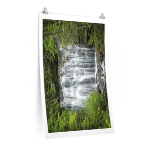 Premium Matte vertical posters - Meigs Falls in Mountain National Park (SMNP) USA Poster Printify