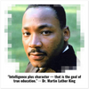 "GELATO GLOBAL PRINT - Classic Matte Paper square POSTER - Dr. Martin Luther King - ""Intelligence plus character — that is the goal of true education."""