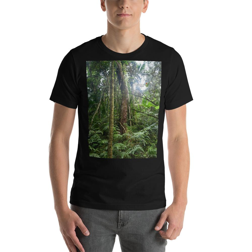 Printed in AU: Hey Mate - Raul, the rain forest explorer in Puerto Rico, has Gone walkabout woop woop for 4 days in El Yunque, and has bonzer pictures for your next Bella+Canvas UNISEX T-shirt - Yunque Store