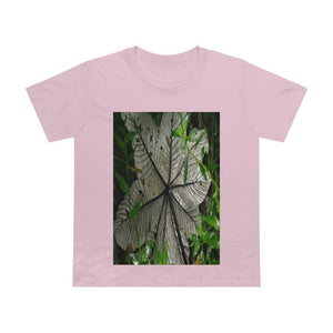 Printed in AUSTRALIA - Women's Maple Tee - Yagrumo Tree leaf - El Yunque rainforest - HumanVision 👩‍🦰 - Yunque Store