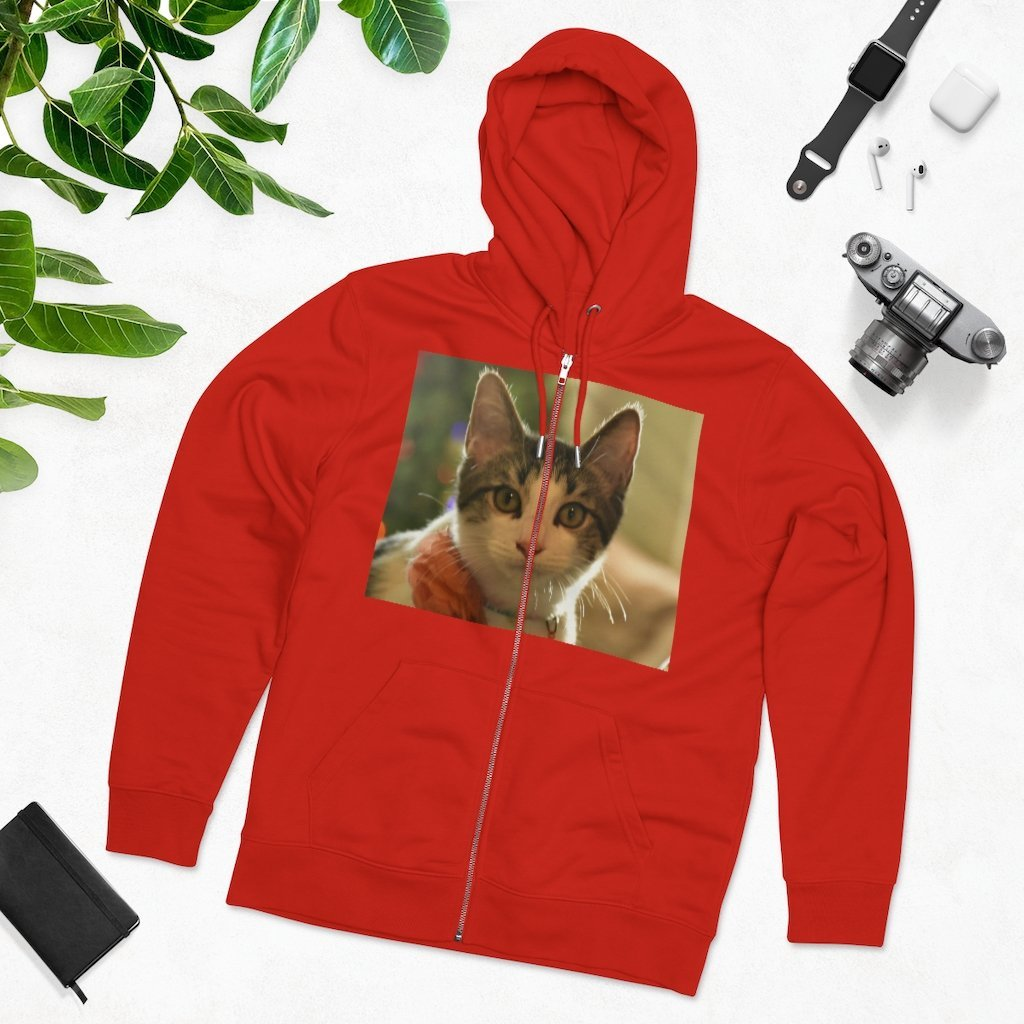 Printed in Germany - Men's Iconic Cultivator Zip Hoodie - 85% organic cotton & Heavy Fabric - eco-fashion TROPICAL hot deals to keep warm 🌴🌞🌴 - Yunque Store