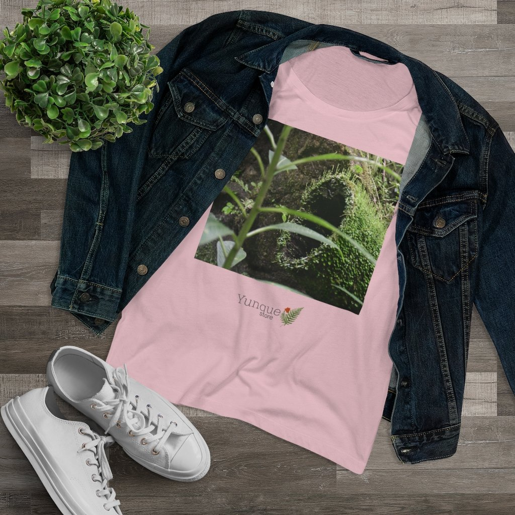 Printed in Germany - Organic Women's Lover T-shirt - Show off the most remote, rarely seen, regions of the rainforest in Puerto Rico - El Toro Wilderness - Yunque Store