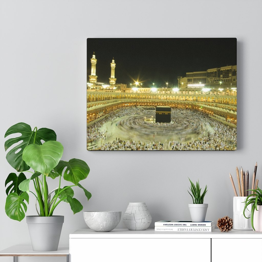 Printed in USA - Canvas Gallery Wraps - Holly Kaaba in Mecca, Saudi Arabia - UAE - Islam - Yunque Store