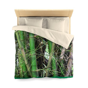 Queen $99 Sale - Microfiber Duvet Cover - Bamboo tree cluster in Rio Sabana park - El Yunque rain forest PR - Yunque Store
