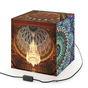 Rare and Beautiful CUBE LAMP 😇 Holy Mosque & Patterns in 5 x Images come to LIFE in full color - Yunque Store