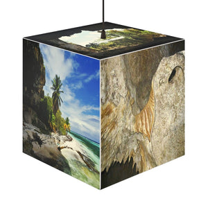 Rare and Beautiful CUBE LAMP Make the Pristine and Remote Mona Island 5 x Images of Caves and Beaches 🌊 come to LIFE - 50 miles from Puerto Rico - Yunque Store