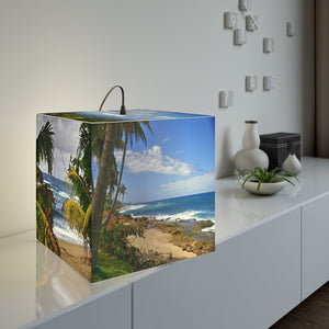 Rare and Beautiful CUBE LAMP 🌞 Tropical Beaches of Puerto Rico 5 x Images come to LIFE in the full sun - Yunque Store
