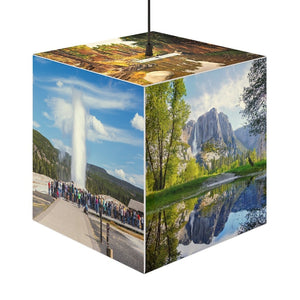 Rare and Beautiful CUBE LAMP 🌊 US National parks best 5 x Images come to LIFE - Yunque Store