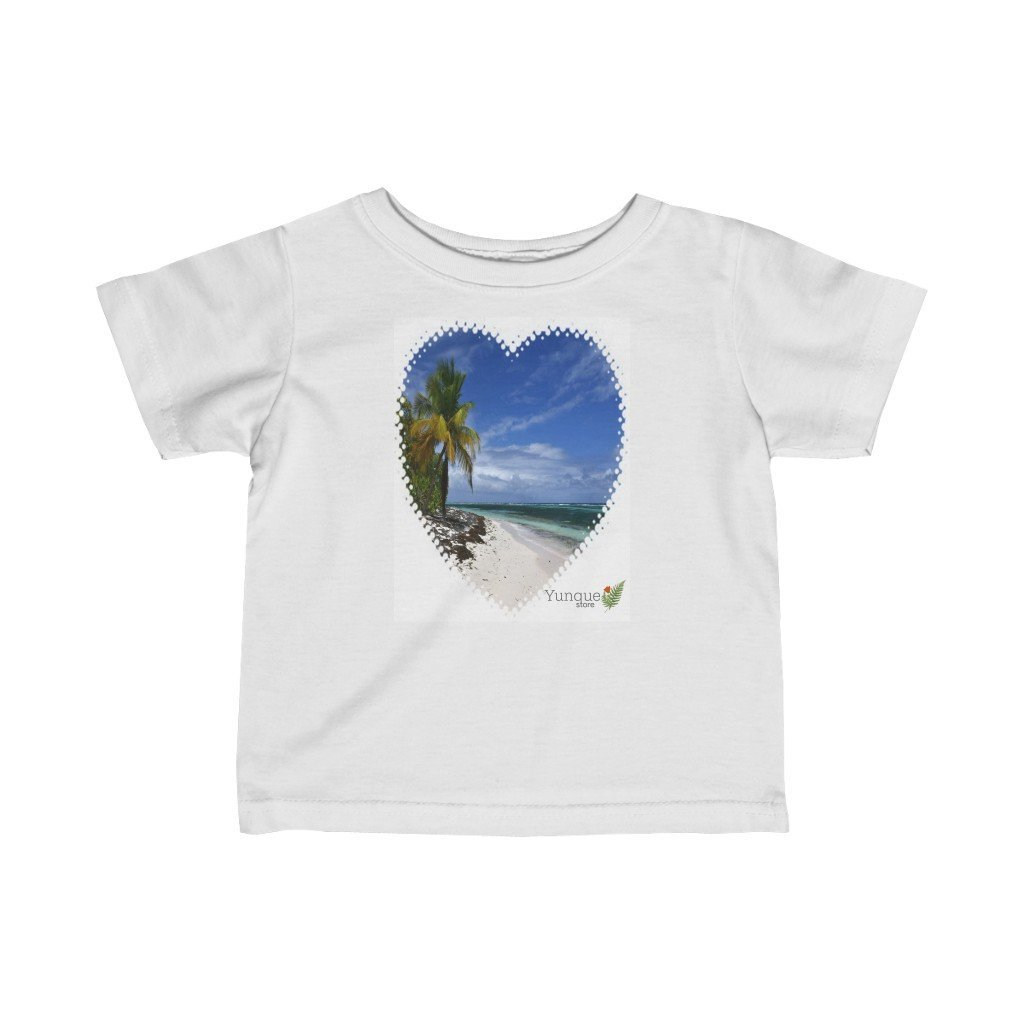 SALE - Infant Fine Jersey Tee - Heart shaped Mona Island PR paradise - Yunque Store