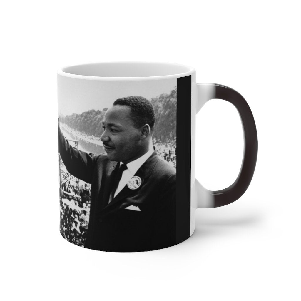 👍 Sale MLK Day - Color Changing Mug - In Homage of Dr. Martin Luther King Jr. - Nobel Peace prize - 1964 - Yunque Store
