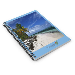 SALE - Spiral Notebook - Ruled Line - Mona Island remote Puerto Rico paradise - Yunque Store