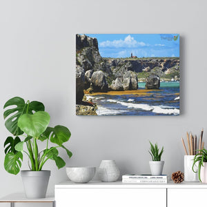 SALE - US print - Canvas Gallery Wraps - Awesome quality canvas of Pajaros Beach in Mona island with vew of Lighthouse - Yunque Store