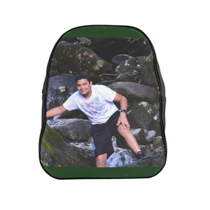 School Backpack - Exploer Jose on the El Verde (The Green) rivers - El Yunque rain forest PR Bags Printify