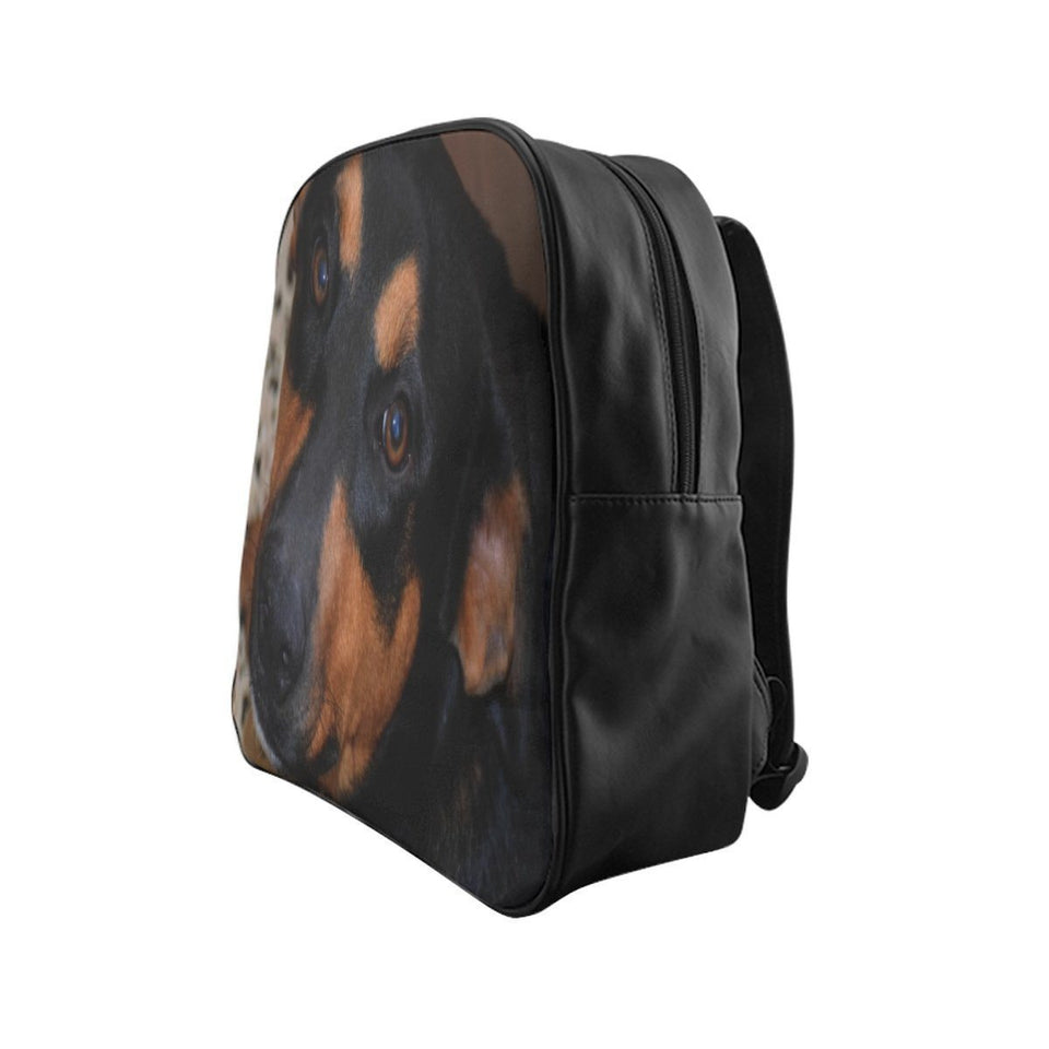 School Backpack - Family PET - The forest explorer dog Firo alert as always Bags Printify