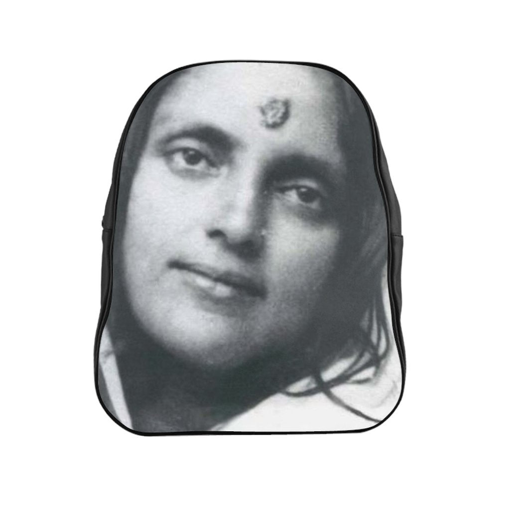 School Backpack - Hindu Saint Ananda Mayi Ma - or bliss permeated Mother - Yunque Store