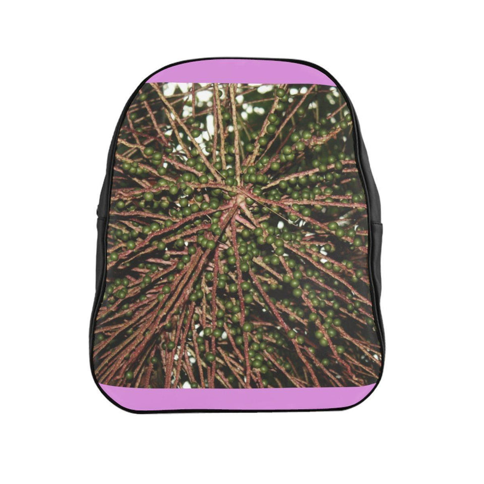 School Backpack - Seeds of the Sierra Palm in the cloud forest - El Yunque rain forest PR Bags Printify