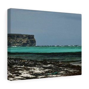 Shining see of pajaros beach - Puerto Rico - the Galapagos of the Caribbean Canvas Printify