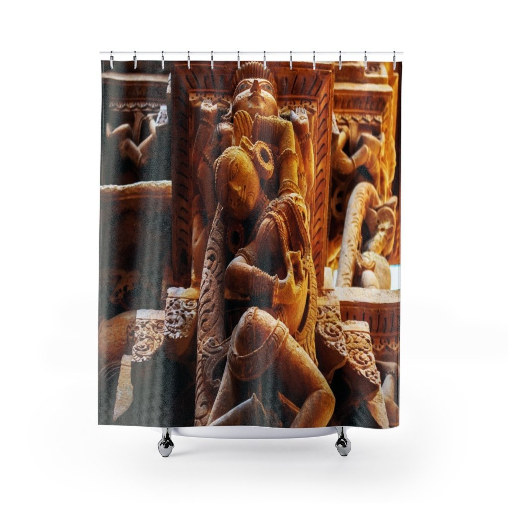 Shower Curtains - ancient tantric temples of India - Yunque Store