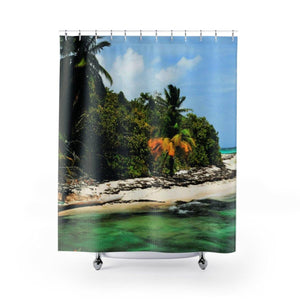 Shower Curtains - Awesome Mona Island pajaros beach - Puerto Rico Home Decor Printify