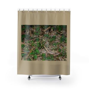 Shower Curtains - Bamboo leaves on Rio Sabana Park - El Yunque rain forest PR - Yunque Store
