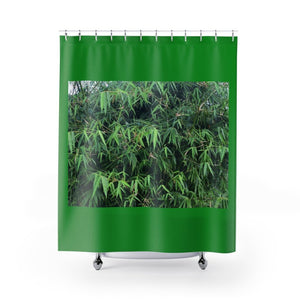 Shower Curtains - Bamboo tree in Rio Sabana Park - El Yunque rain forest PR - Yunque Store