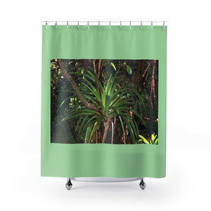 Shower Curtains - Bromeliad lower forest / Bromelia bosque bajo - El Yunque rain forest PR - Yunque Store
