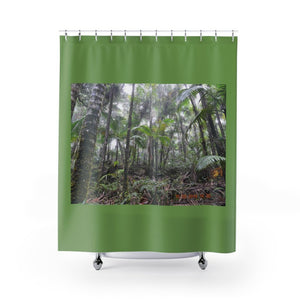 Shower Curtains - Cloud Forest, Sierra palm forest near El Yunque peak / Bosque de Nubes, Palmas de Sierra cerca de el pico del Yunque - Yunque Store