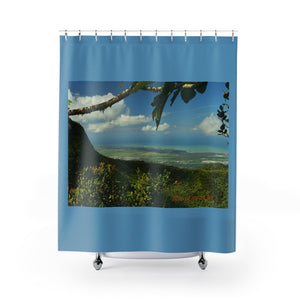 Shower Curtains - El Yunque rainforest PR - view from the Tres Paicahos peak at 3K feet alt. - Yunque Store