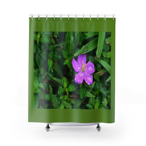 Shower Curtains - Foliage on Rio Sabana Park - El Yunque rain forest PR - Yunque Store