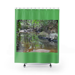 Shower Curtains - Holy Spirit river exploration / Exploracion rio Espiritu Santo 2014 - El Yunque rain forest PR - Yunque Store