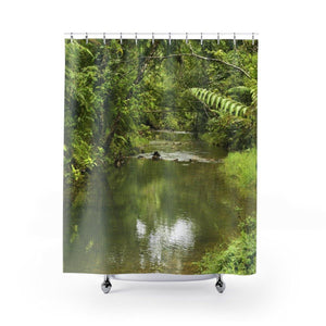 Shower Curtains - Latest exploration - Carite Blue (cold) river - Puerto Rico Home Decor Printify