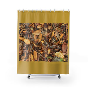 Shower Curtains - Leaves of El Yunque / Hojas de El Yunque - Tradewinds trail El Yunque rain forest PR - Yunque Store