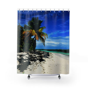 Shower Curtains - Mona island Pajaros beach - Puerto Rico - Yunque Store