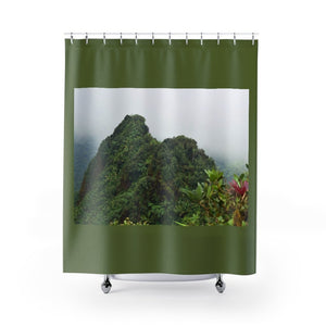 Shower Curtains - Peaks of El Yunque at 3k feet - El Yunque rain forest PR - Yunque Store