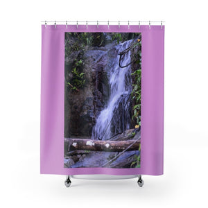 Shower Curtains - Small stream in closed road PR 191 - Rio Sabana - El Yunque PR - Yunque Store