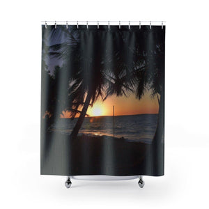 Shower Curtains - Sunset on the remote Mona Island - PR Home Decor Printify