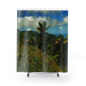 Shower Curtains - Views of El Yunque rain forest Puerto Rico Home Decor Printify