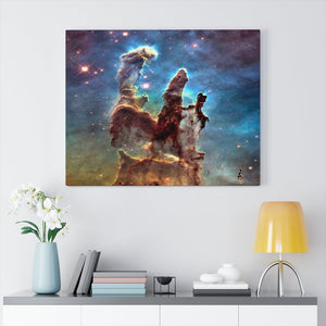 SPACE - Canvas Gallery Wraps - Impressive Eagle Nebula and stars by the Hubble space telescope - 15-052 - NASA - Yunque Store