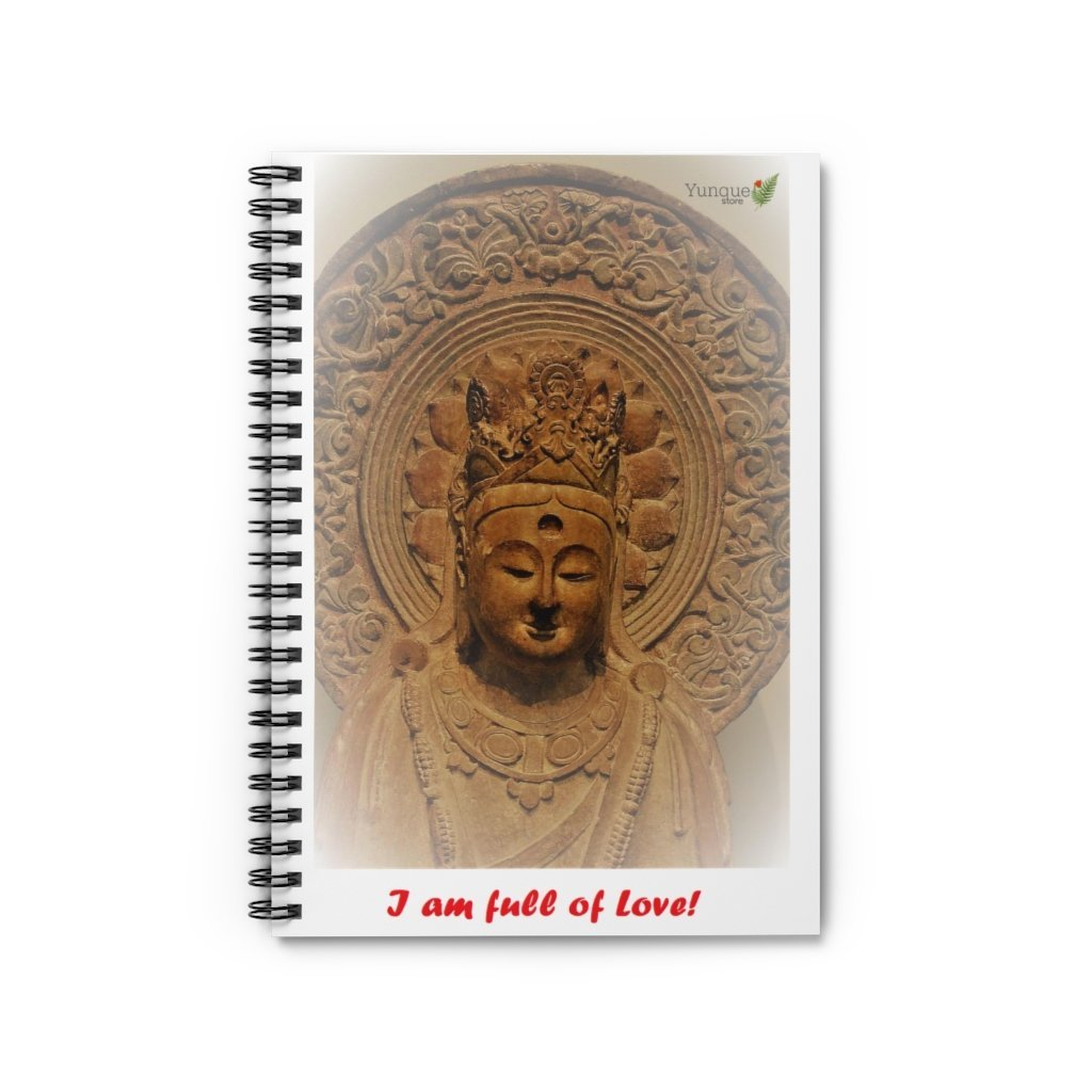 SPACE OUT (SO) - Spiral Notebook - Ruled Line - I am full of love - Buddha immersed in Love - Yunque Store