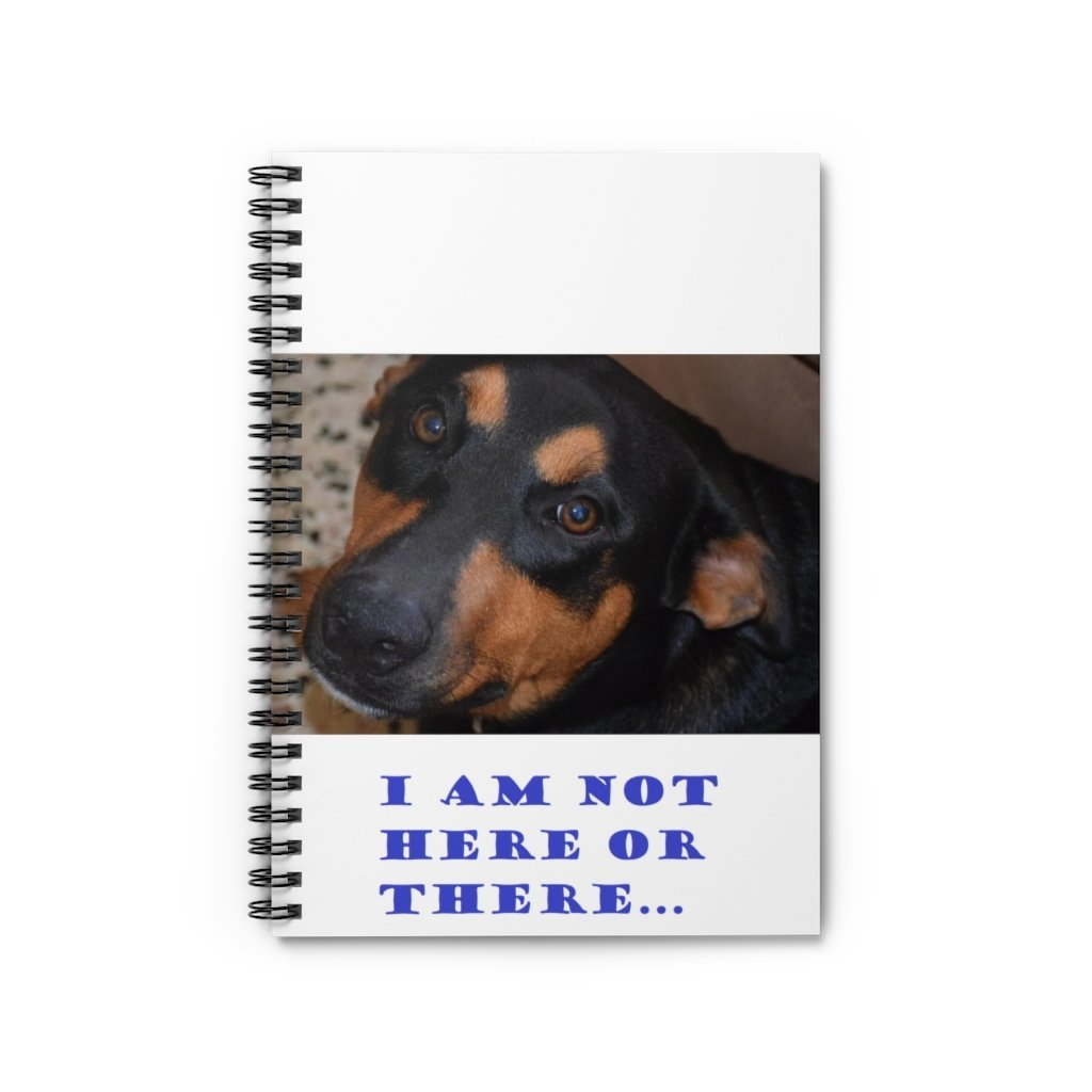 SPACE OUT (SO) - Spiral Notebook - Ruled Line - I am not here of there - Explorer dog FIRO - Yunque Store