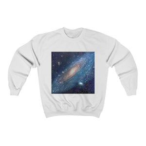 SPACE OUT - Unisex Heavy Blend™ Crewneck Sweatshirt - Galaxies and Nebulas out in space - NASA HUBBLE TELESCOPE Sweatshirt Printify