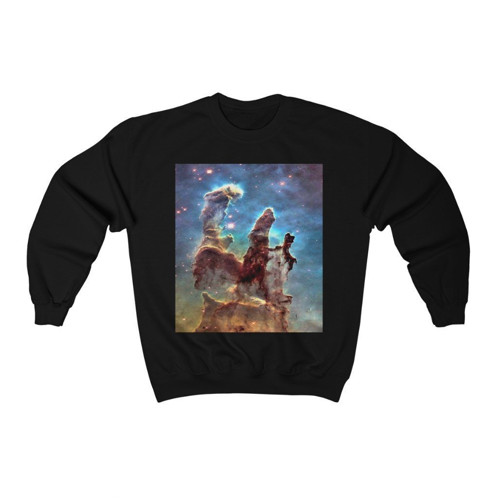 SPACE OUT - Unisex Heavy Blend™ Crewneck Sweatshirt - NEBULAS out in space - NASA HUBBLE TELESCOPE - Yunque Store