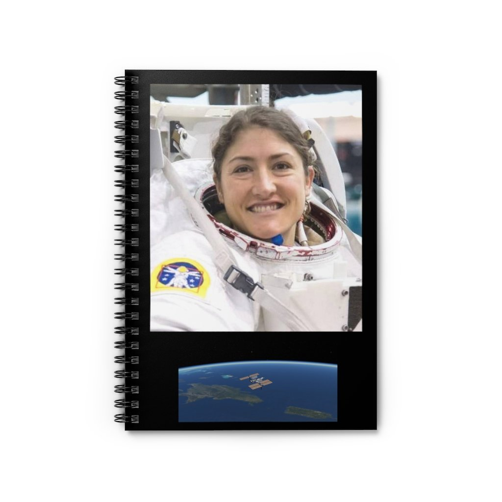 Spiral Notebook - Ruled Line - Astronaut Christina Koch back on Earth after 328 days in space - Yunque Store