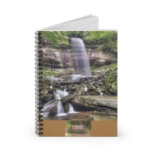 Spiral Notebook - Ruled Line - Happy bear and Newfound Gap rays of a Holy day - in Smoky Mountain National Park (SMNP) USA - Yunque Store