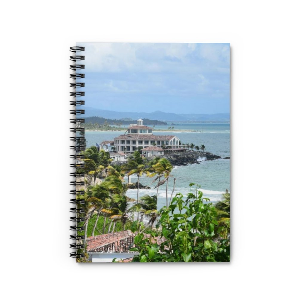 Spiral Notebook - Ruled Line - Rocky Coast - Palmas de Mar Housing complex - Puerto Rico - Yunque Store