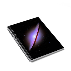 Spiral Notebook - Ruled Line - Sombrero Galaxy Paper products Printify