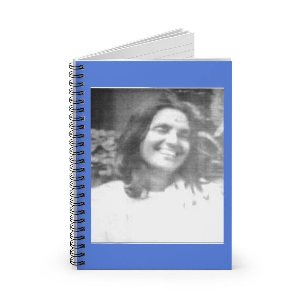Spiral Notebook - Ruled Line - The great Hindu Saint Ananda Mayi Ma: 'One of God's Name is LOVE. He Himself resides within all, at every moment, everywhere.' - Yunque Store