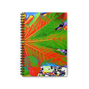 Spiral Notebook - Ruled Line - The Yagrumo tree & leafs - El Yunque rainforest PR - ALIEN VISION 👽 - Yunque Store